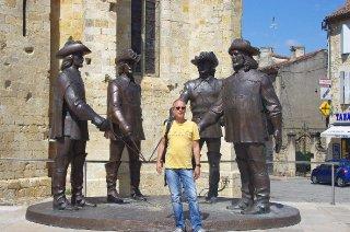 D'Artagnon (musketeer from the novel by Dumas) was born near Auch