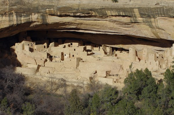 Mesa Verde, archäologische Ausgrabungsstätte in Colorado (um 1300 n.Chr.)Mesa Verde, the most important archeological place in the USA (Colorado)