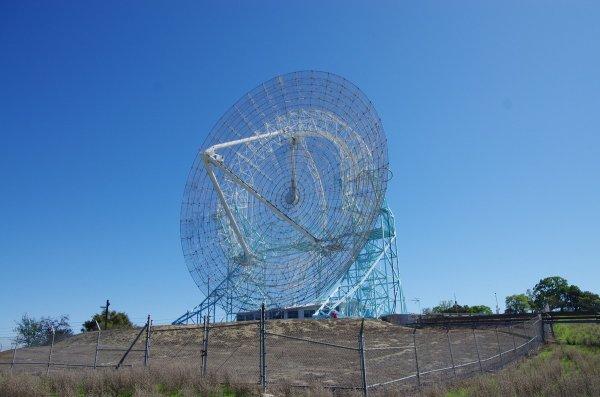 The Stanford Dish, an impressive radio telescope