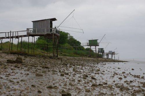 Fischerhütte an der Gironde