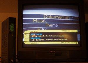 Die d-box kann übers Netzwerk den Bildschirm des VDR anzeigen und über die Fernbedienung auch bedienen.