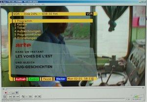 VLC zeigt den Schirm des VDR übers Netzwerk - auch mit On-Screen-Display