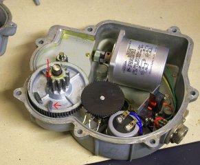 Geöffneter Rotor mit dem Schaden