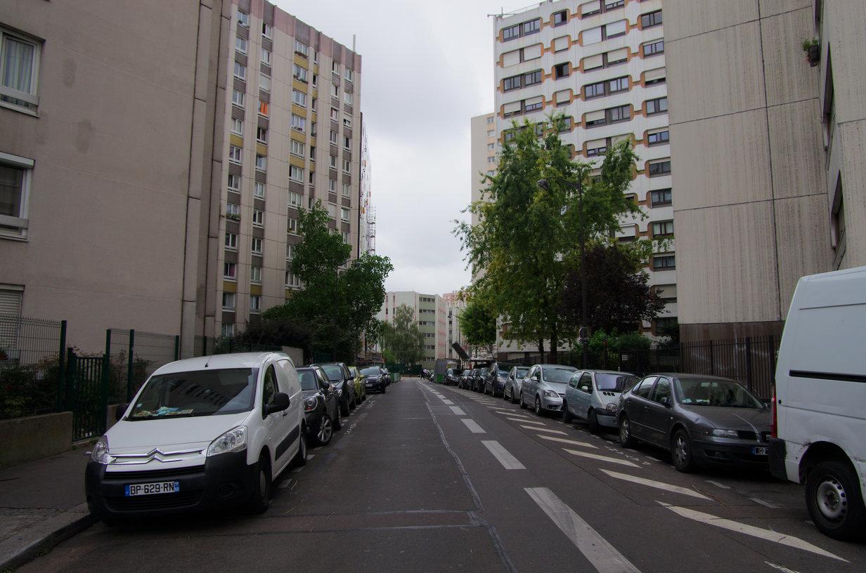 Blick in die Hotelstraße