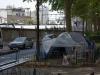 Obdachlose, die in Zelten (und auch nur nachts in Garageneinfahrten) wohnen, haben wir eine Menge gesehen
