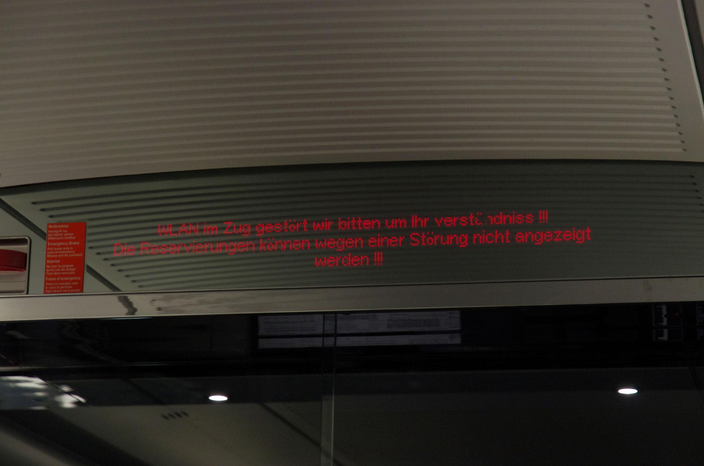 Es funktioniert immer mal was nicht bei der Bahn.