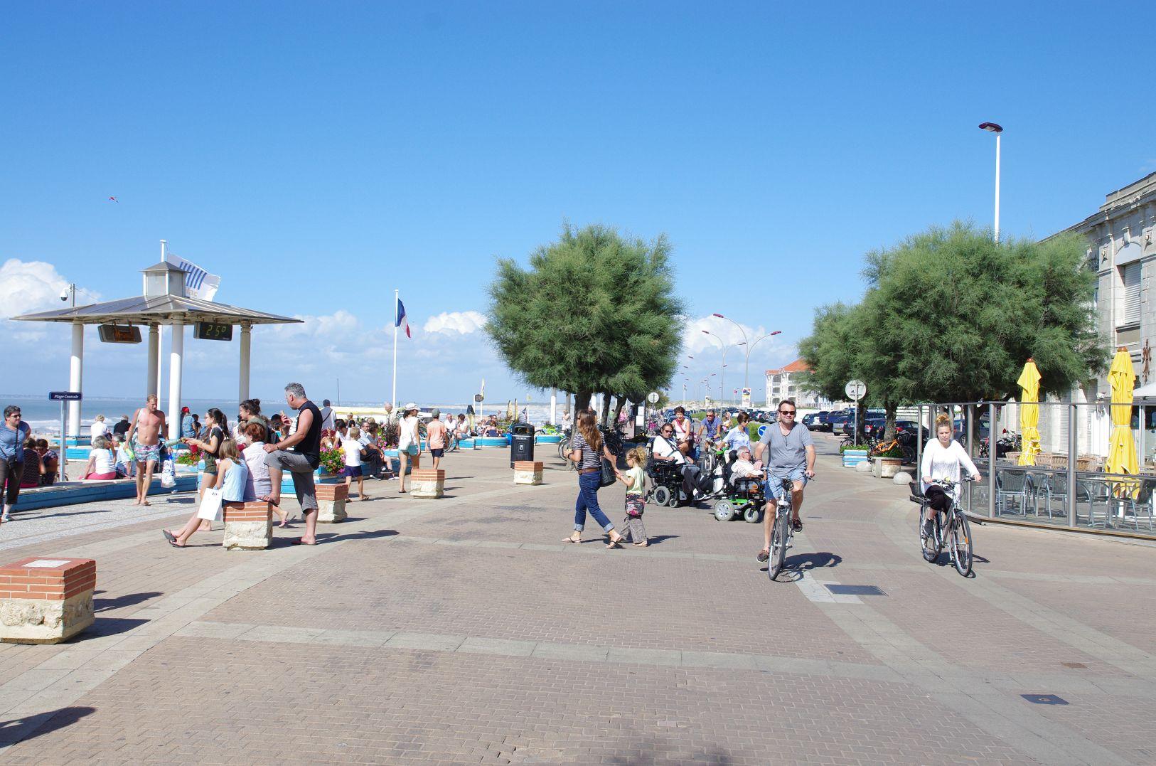 Strandpromenade in Soulac